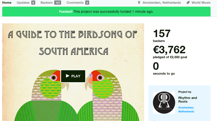 A Guide to the Birdsong of South America Kickstarter